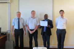 3rd photo certificate trainee TTT Tanzania