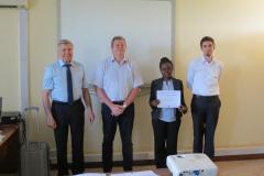photo certificate trainee TTT Tanzania